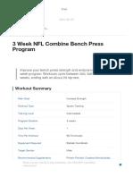 3 Week NFL Combine Bench Press Program _ Muscle & Strength