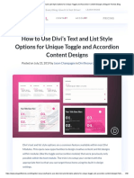 How to Use Divi's Text and List Style Options for Unique Toggle and Accordion Content Designs _ Elegant Themes Blog