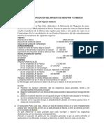 Ejercicios de Aplicación Del Impuesto de Industria y Comercio.docx Evaluacion(2) (1)
