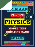 Pgtrb Physics Model Question Paper
