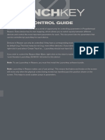 Launchkey Reason Control Guide manual