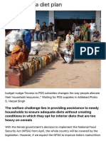 Subsidy, PDS and Food Choices