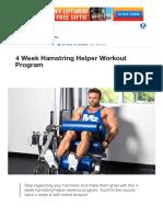 4 Week Hamstring Helper Workout Program