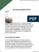 La Bataille de Cannes (Italie, 216 Av J.C