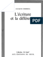 Ecriture Et Difference