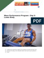Mass Performance Program - Day 2_ Lower Body