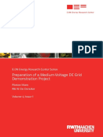 Preparation of a Medium-Voltage DC Grid Demonstration Project