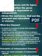 Clauses & Its Types