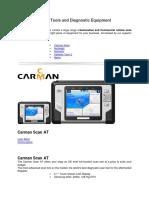 Automotive Scan Tools and Diagnostic Equipment