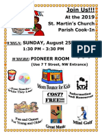 St Martin's Cook-In 2019 Info 2019 08 25