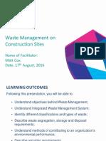 Waste Management on Construction Sites