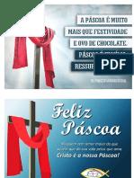 Mini cartazes com Mensagem sobre a Páscoa