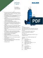 Sulzer Submersible Pump XFP 80C 201G TDS 60Hz ES
