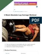 4 Week Absolute Leg Carnage Workout