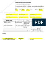 Engineering Rubric for SO (d2) Final Laboratory Project