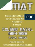 Livro Xmat Vol05g Colégio Naval 1984-1985 2ed