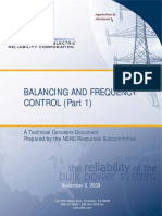 NERC Balancing and Frequency Control