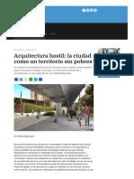 Arquitectura Hostil La Ciudad Como Un Territorio Sin Pobres Agencia Paco Urondo Periodismo Militante