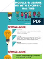 LEARNERS WITH EXCEPTIONALITIES