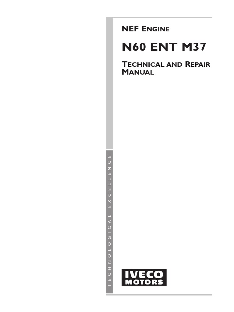 Iveco N60 Ent M37 Troubleshooting and Repair Manual