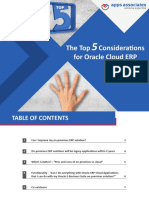 The Top 5 Considerations for Oracle Cloud ERP