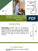 Range of Motion Exercises &