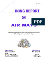 Project Report on AIR WAYS