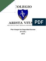 Plan Integral de Seguridad Escolar Colegio Arista Vitae 2019