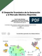 El Despacho Económico de la Generación y el Mercado Eléctrico Mayorista