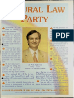 Natural Law Party Insert, 1993