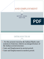 Caste and Employment