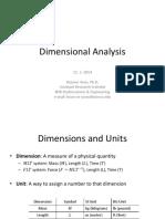 Dimensional Analysis 11-03-2014