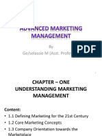 Chapter 1 Advanced Marketing Management