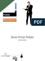 BONO PRIMER PEDIDO HINODE