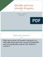 Transferable and Non-Transferable Property