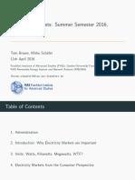 Electricity Markets (Brown, Schafer)