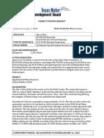 Texas Water Development Board project funding request  — Alice