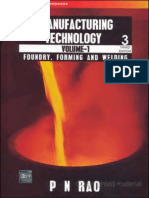 Manufacturing Technology Volume-1 (Foundry, Forming & Welding) (3rd Edition) - PN RAO_text