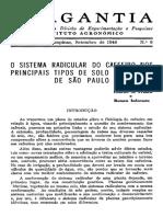 O sistema radicular do cafeeiro nos principais solos de Sao Paulo