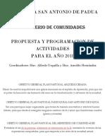 Plan 2019 Comunidades