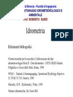 idrometria
