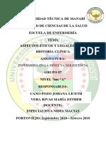 Aspectos Eticos y Legales de La Historia Clinica
