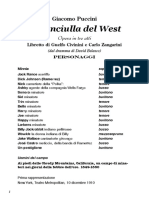 Libretto La Fanciulla Del West