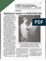 Baltimore Native is Celebrated Spy