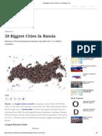 20 Biggest Cities in Russia - WorldAtlas.com