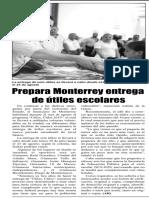 28-07-19 Prepara Monterrey entrega de útiles escolares