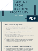 Argument From Antecedent Probability
