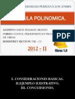 Formula Polinomica - Diapositivas