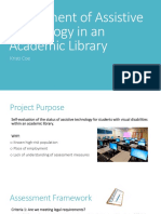 assessment of assistive technology in an academic library