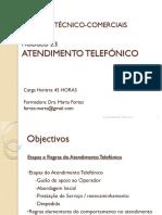 Manual atendimento Telefónico
